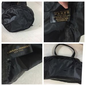 Carolina Herrera Bags - Good Girl Carolina Herrera Black Satin Duffle Bag